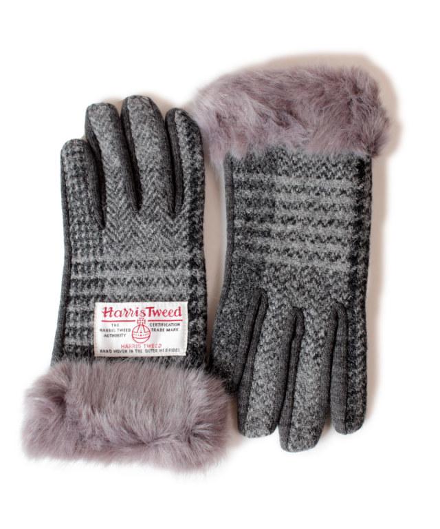 (ハリスツイード) Harris Tweed レディース グローブ マイクロファー付き手袋 ウール
