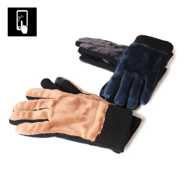 メンズ グローブ ボアフリース 手袋 スマートフォン・タッチパネル対応 スマートフォン手袋
