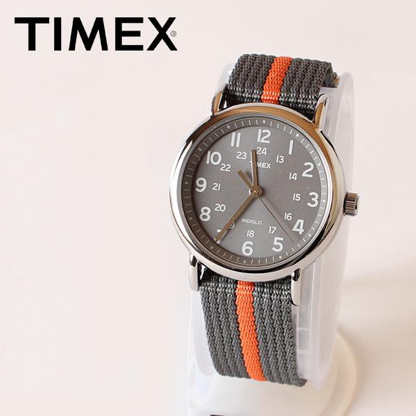 【即納】【送料無料】TIMEX タイメックス 腕時計 ウォッチ ウィークエンダーセントラルパーク グレー グレー×オレンジ