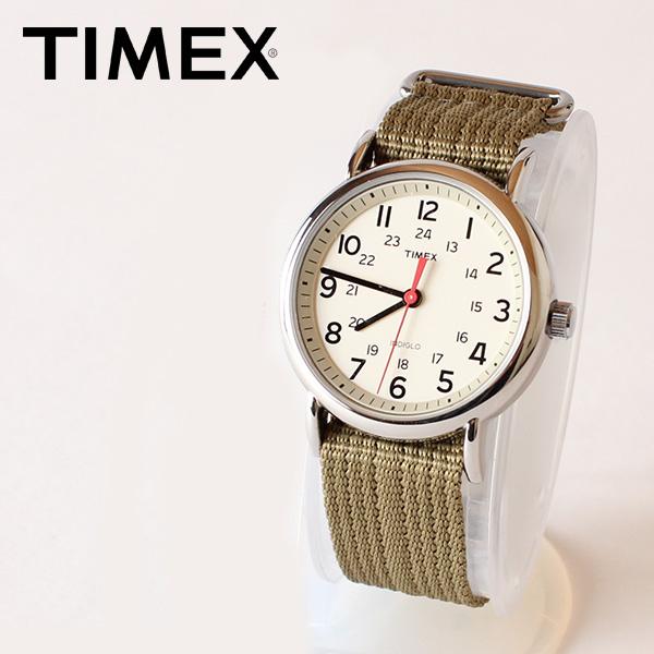 【即納】【送料無料】TIMEX タイメックス 腕時計 ウォッチ ウィークエンダーセントラルパーク クリーム×オリーブ