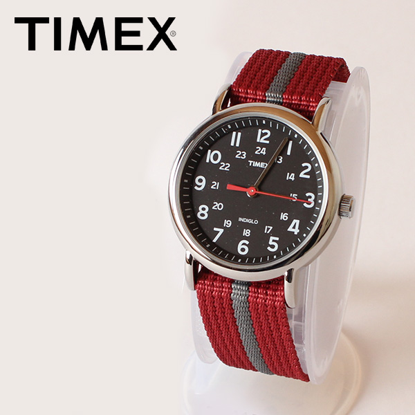 【即納】【送料無料】TIMEX タイメックス 腕時計 ウォッチ ウィークエンダーセントラルパーク ブラック レッド×グレー