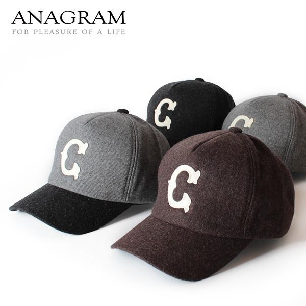 【即納】ANAGRAM アナグラム ベースボールキャップ ウールCAP 帽子