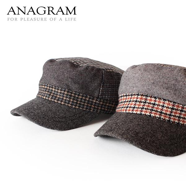 【即納】ANAGRAM アナグラム ツイードワークキャップ CAP 帽子