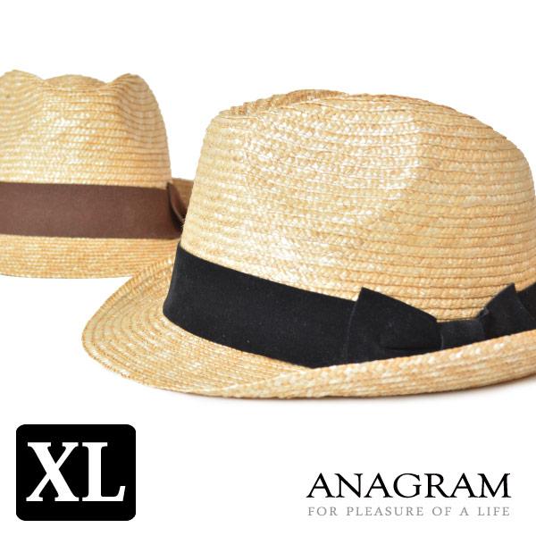 アナグラム ANAGRAM ストローハット 麦わら帽子 麦わらハット 中折れハット 大きいサイズ 帽子 UV対策 春夏 2020年