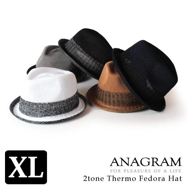 (アナグラム) ANAGRAM サーモハット 中折れハット 大きいサイズ 帽子 XLサイズあり