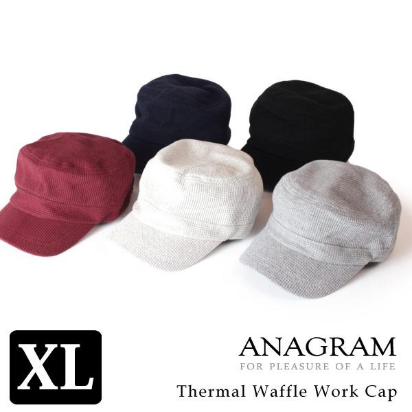 (アナグラム) ANAGRAM サーマルワークキャップ 大きいサイズ 帽子 紫外線 防止 UVカット メンズ レディース