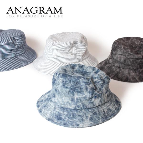 (アナグラム) ANAGRAM タイダイ ヒッコリー バケットハット 帽子