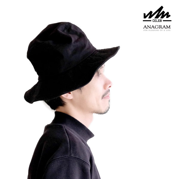 (アナグラム) ANAGRAM x CELEB セレブ ロングブリム バケットハット ツバ広 帽子 熱中症対策 紫外線対策 UV対策 メンズ レディース