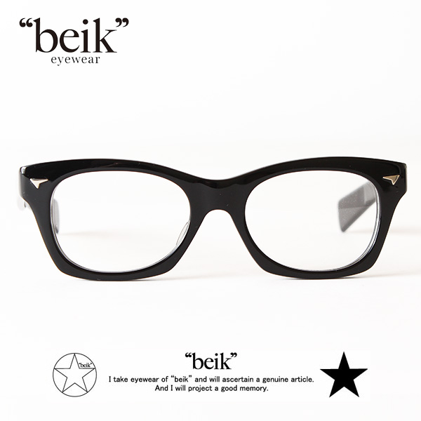 【即納】【送料無料】beik 眼鏡 めがね 伊達メガネ 黒ぶち Gigi ベイク
