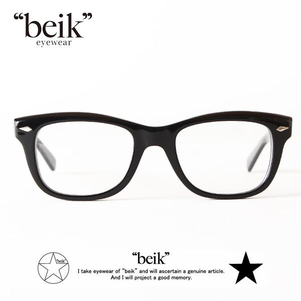【即納】【送料無料】beik 眼鏡 めがね 伊達メガネ 黒ぶち River ベイク