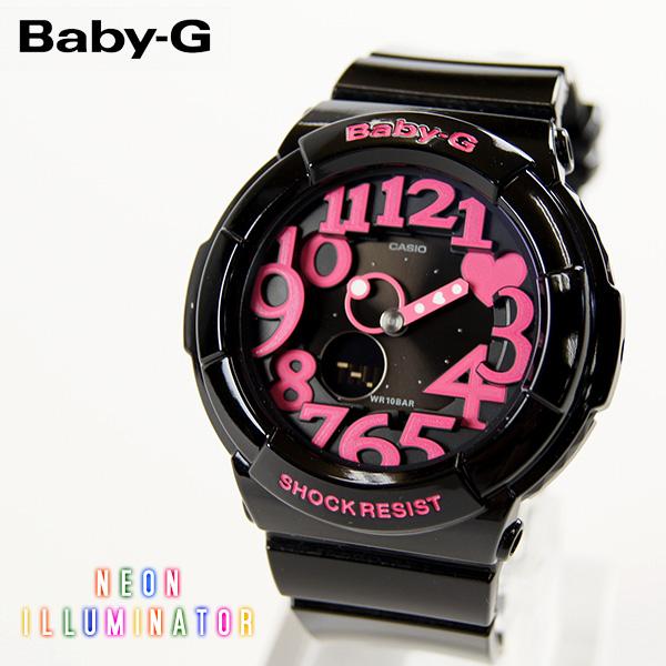 【即納】【送料無料】CASIO Baby-G カシオ ベビーG Neon Dial Series BGA-130 BGA-131 G-SHOCK腕時計 デジタル アナログ ブラック×ピンク