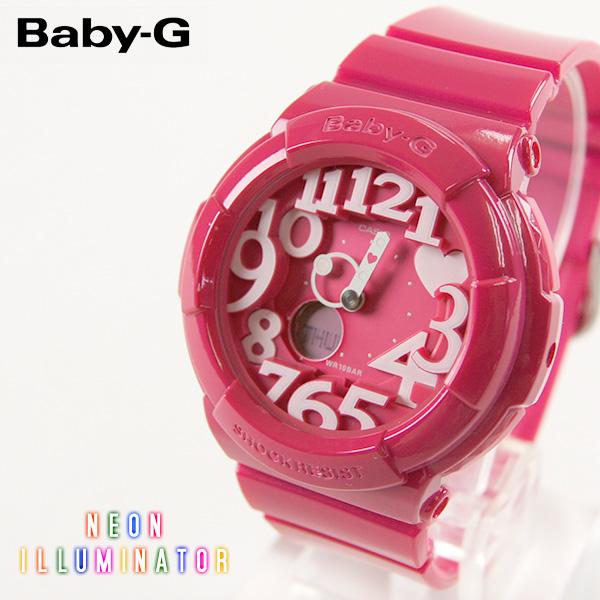 【即納】【送料無料】CASIO Baby-G カシオ ベビーG Neon Dial Series BGA-130 BGA-131 G-SHOCK腕時計 デジタル アナログ ピンク