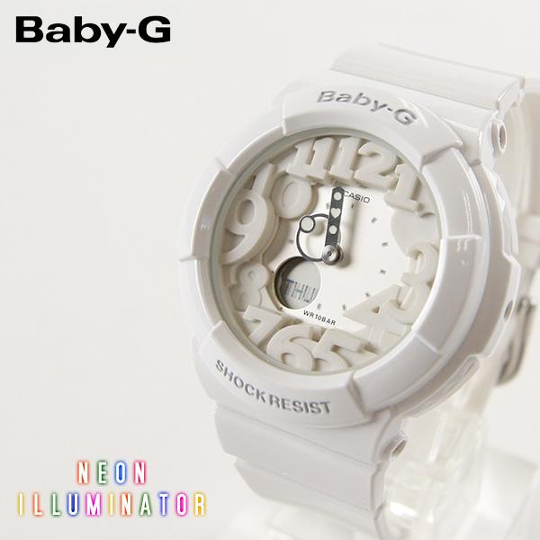 【即納】【送料無料】CASIO Baby-G カシオ ベビーG Neon Dial Series BGA-130 BGA-131 G-SHOCK腕時計 デジタル アナログ ホワイト