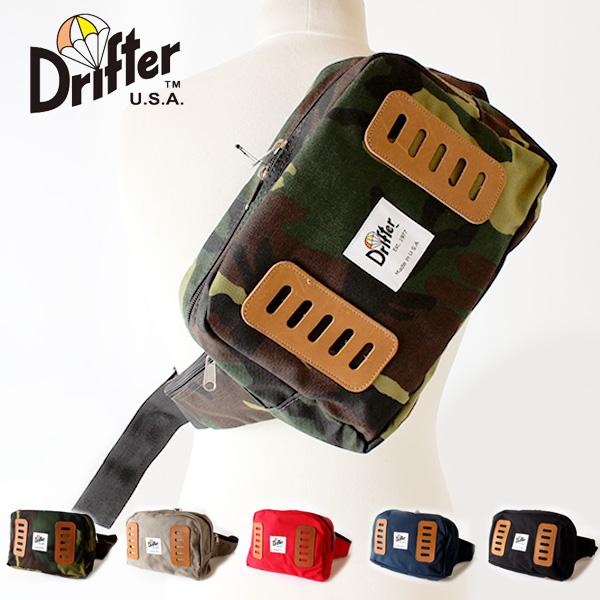 【即納】【送料無料】Drifter フィールドパック ボディバッグ ヒップバッグ ウエストバッグ ドリフター MADE IN U.S.A.