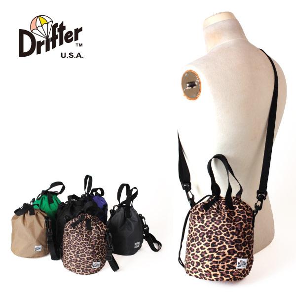 (ドリフター) Drifter ドローストリングポーチ ショルダーバッグ 巾着 2way 手提げ 肩掛け DRAWSTRING POUCH DFV1200
