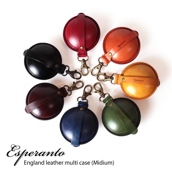 (エスペラント) esperanto [Mサイズ] コインケース 携帯灰皿 マルチケース イングランドサドルレザー