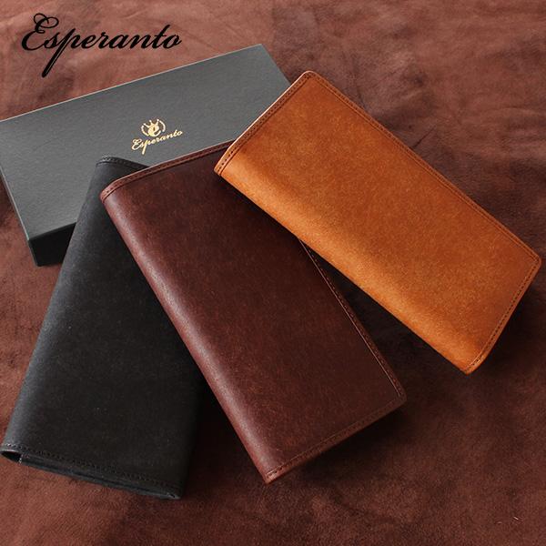 【即納】【送料無料】esperanto プエブロレザーロングウォレット 長財布 イタリアレザー PUEBLO LEATHER エスペラント