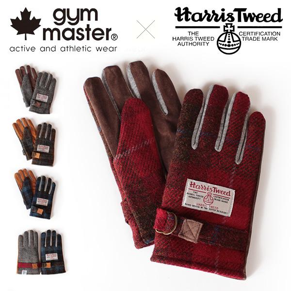【即納】【送料無料】gym master ジムマスター Harris Tweed ハリスツイード グローブ 手袋 ウール Wネーム コラボレーション G921516
