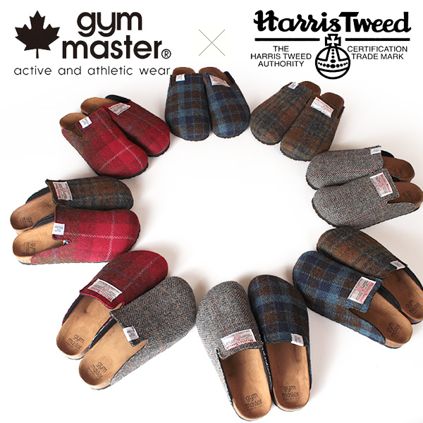 【即納】【送料無料】gym master ジムマスター Harris Tweed ハリスツイード クロッグサンダル 靴 ウール Wネーム コラボレーション G921571