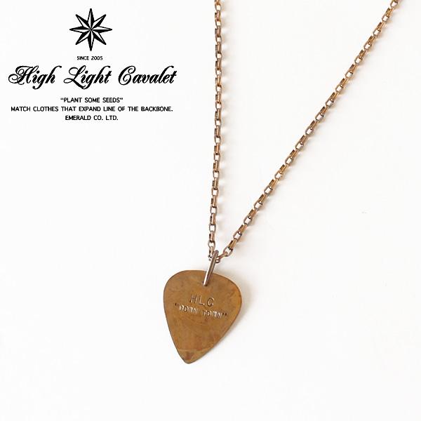 【即納】【送料無料】HIGH-LIGHT CAVALET ピック ネックレス 真鍮製 HLC DOWN TOWN ハイライトキャバレー