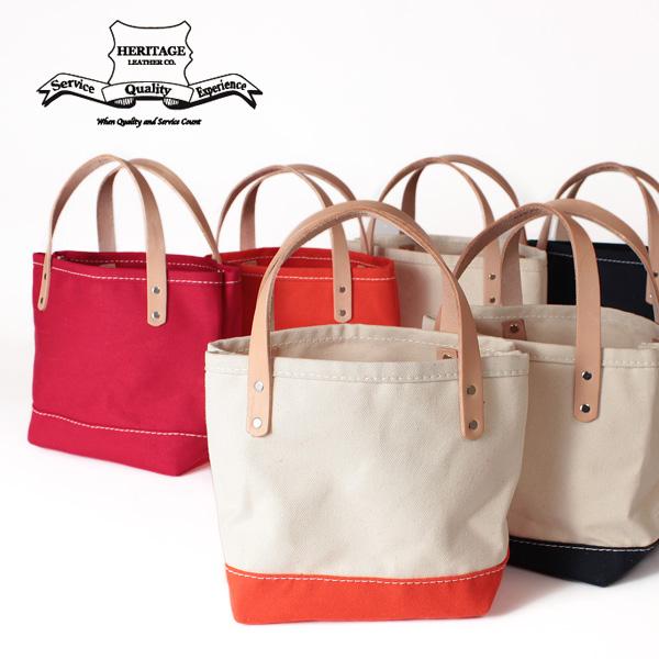 【即納】【送料無料】Heritage Leather ヘリテージレザー キャンバスミニトートバッグ 本革 レザー 鞄