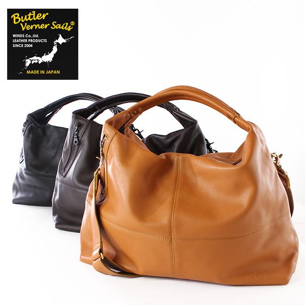 翌日配達【即納】【送料無料】Butler Verner Sails シュリンクレザー 2way エディターズバッグ ショルダーバッグ ボストンバッグ バトラーバーナーセイルズ 鞄
