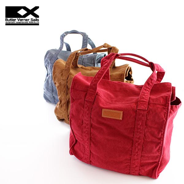 【即納】【送料無料】Butler Verner Sails ボストンバッグ ビッグトートバッグ マザーズバッグ 8号キャンバス バトラーバーナーセイルズ 鞄