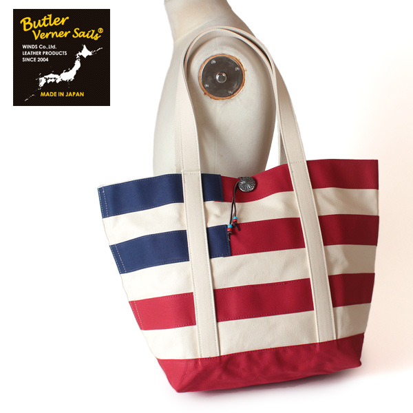 LINE限定クーポンで20%OFF★【即納】【送料無料】バトラーバーナーセイルズ Butler Verner Sails 8号キャンバストートバッグ アメリカンフラッグ 鞄