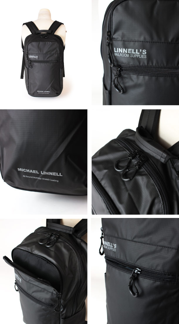 (マイケルリンネル) MICHAEL LINNELL リュックサック 23L A.R.M.Sシリーズ 多機能 メンズ ブラック MLAC-05