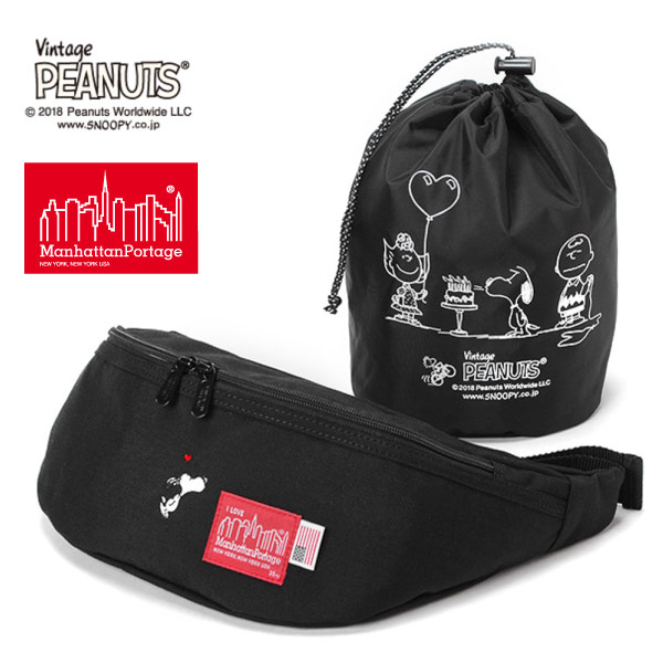 (マンハッタンポーテージ) Manhattan Portage ×PEANUTS Brooklyn Bridge Waist Bag MP1100PEANUTS18