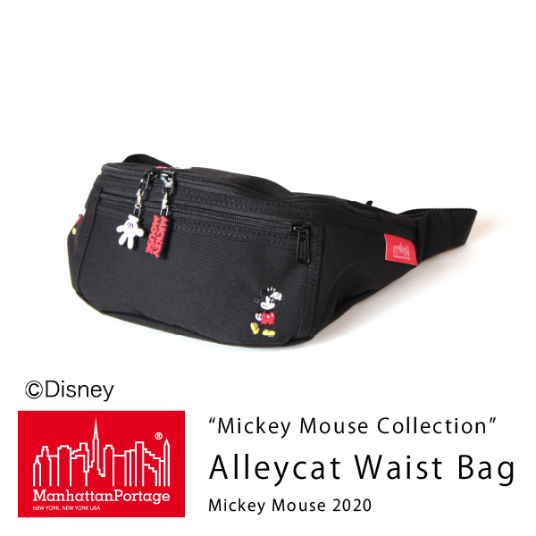 (マンハッタンポーテージ) Manhattan Portage Mickey Mouse Collection Alleycat Waist Bag Mickey Mouse 2020 MP1101MIC20