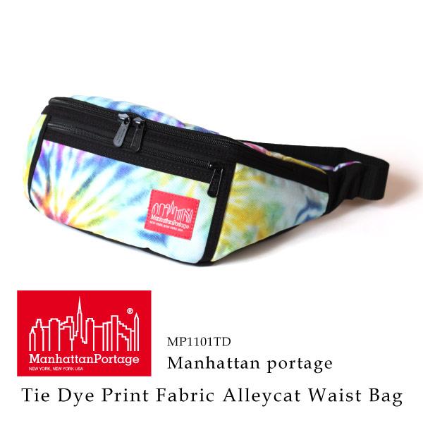 (マンハッタンポーテージ) Manhattan Portage タイダイ ボディバッグTie Dye Print Fabric Alleycat Waist Bag