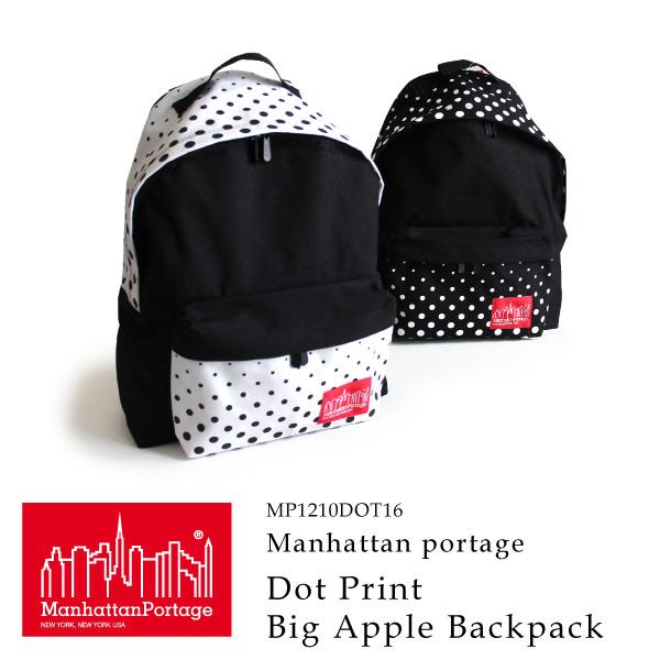 (マンハッタンポーテージ) Manhattan Portage リュックサック デイパック ドットプリント DOT Print Big Apple Backpack