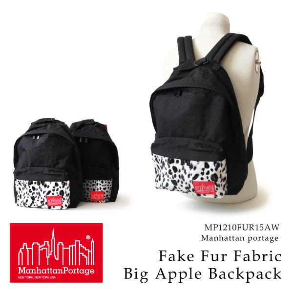(マンハッタンポーテージ) Manhattan Portage リュックサック デイパック Fake Fur Fabric Big Apple Backpack