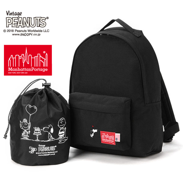 (マンハッタンポーテージ) Manhattan Portage ×PEANUTS Big Apple Backpack MP1210JRPEANUTS18