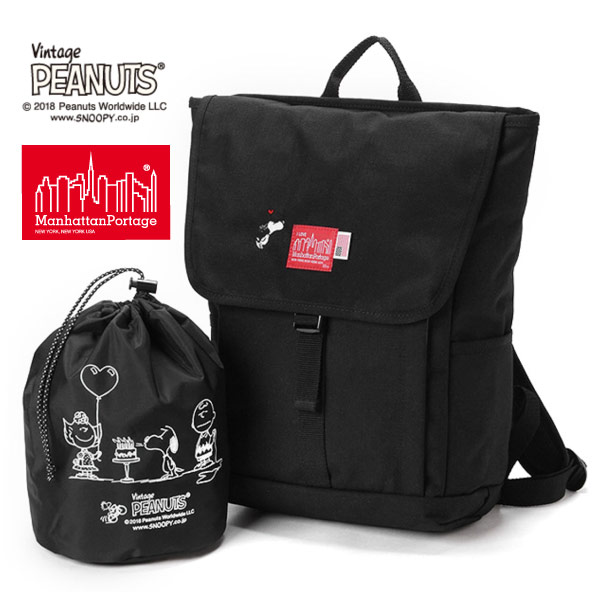 (マンハッタンポーテージ) Manhattan Portage ×PEANUTS Washington SQ Backpack JR MP1220JRPEANUTS18