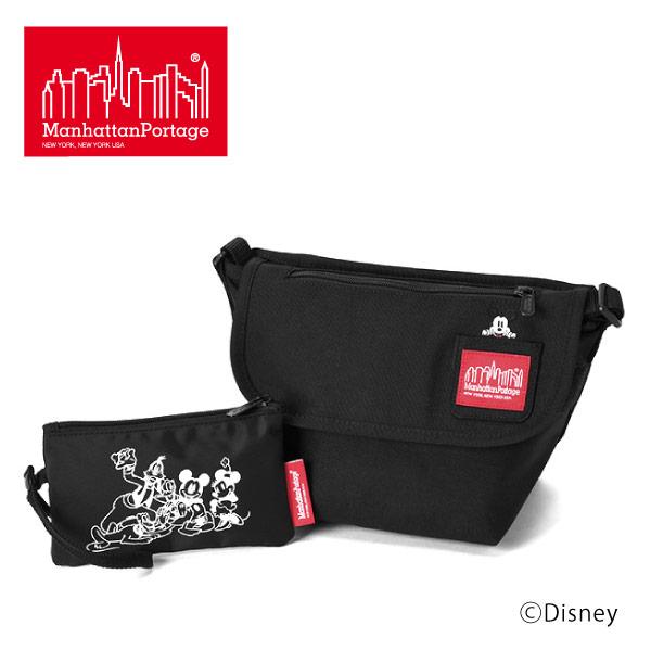 (マンハッタンポーテージ) Manhattan Portage Mickey Mouse メッセンジャーバッグ ショルダーバッグ Casual Messenger Bag
