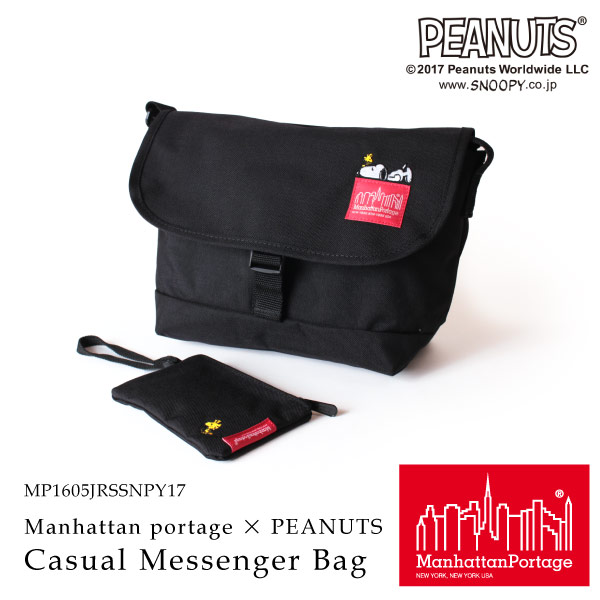 (マンハッタンポーテージ) Manhattan Portage × PEANUTS Slim Casual Messenger Bag MP1605JRSSNPY17