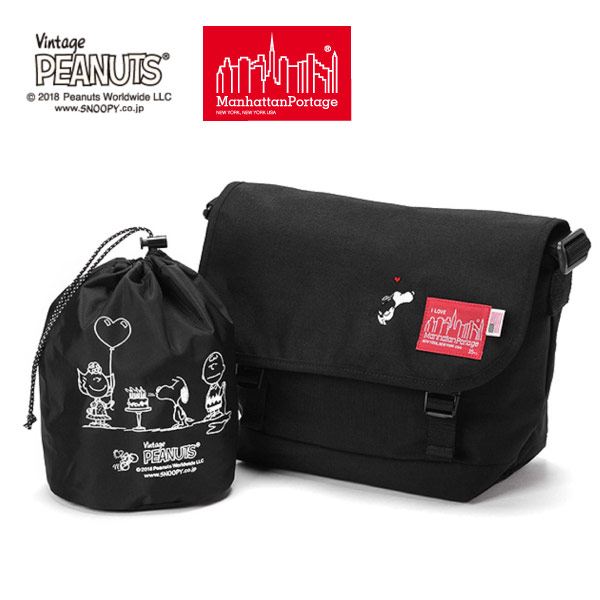 (マンハッタンポーテージ) Manhattan Portage ×PEANUTS Casual Messenger Bag MP1606JRPEANUTS18