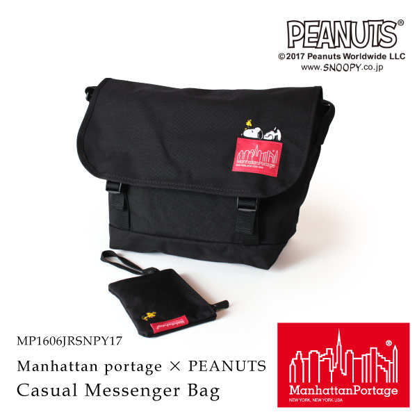 (マンハッタンポーテージ) Manhattan Portage × PEANUTS Casual Messenger Bag MP1606JRSNPY17