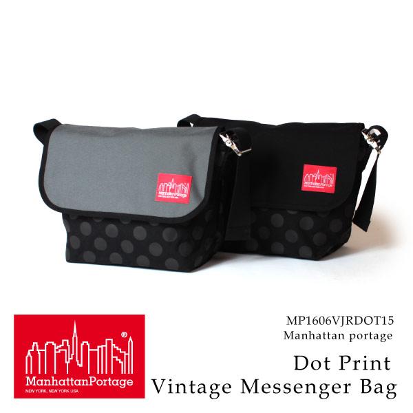 (マンハッタンポーテージ) Manhattan Portage メッセンジャーバッグ Dot Print Vintage Messenger Bag メンズ レディース