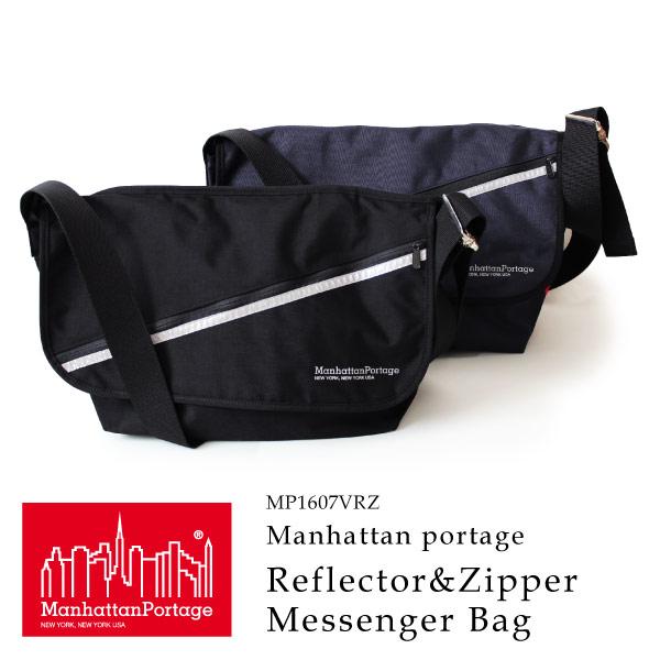 (マンハッタンポーテージ) Manhattan Portage メッセンジャーバッグ Reflector&Zipper Vintage Messenger Bag L