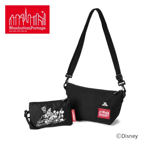 (マンハッタンポーテージ) Manhattan Portage Mickey Mouse 2WAY ミニショルダーバッグ ミニポーチ バッグインバッグ Zuccotti Clutch