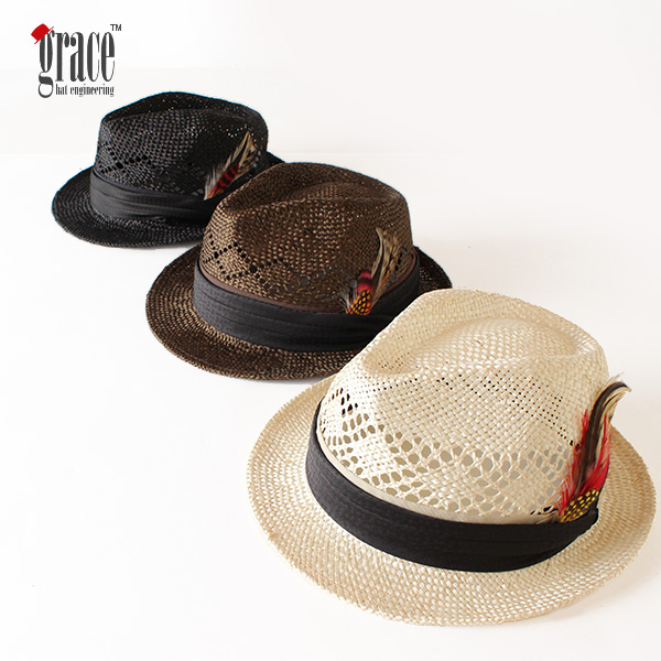 【即納】【送料無料】grace hats グレースハット ラミーハット アーサーハット ARTHUR HAT 中折れハット 帽子