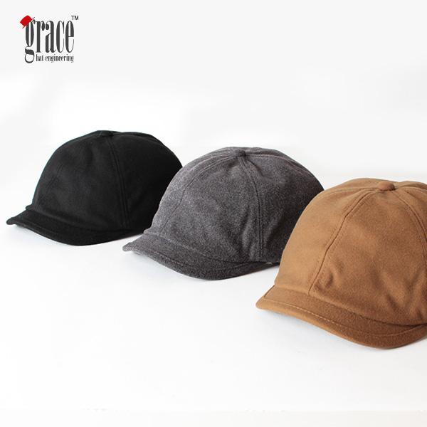 【即納】grace hats グレースハット ウールダービーキャスケット キャップ ハンチング DARBEE CASQUETTE GENTS 帽子
