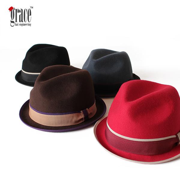 【即納】grace hats グレースハット ウールフェルトハット 中折れハット SPENCER HAT NICO 帽子