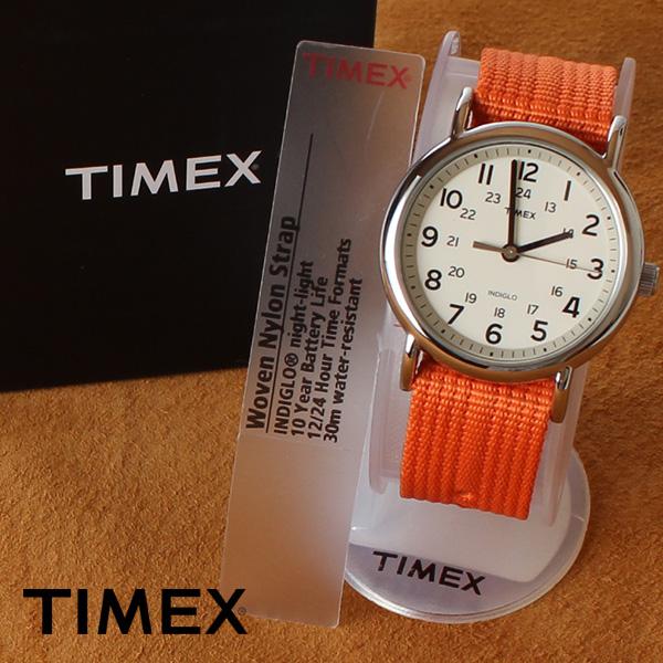 【即納】【送料無料】TIMEX タイメックス ミリタリー 腕時計 ウォッチ ウィークエンダーセントラルパーク T2N745 オレンジ