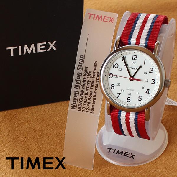 【即納】【送料無料】TIMEX タイメックス ミリタリー 腕時計 ウォッチ ウィークエンダーセントラルパーク T2N746 レッド×ブルー/ホワイト
