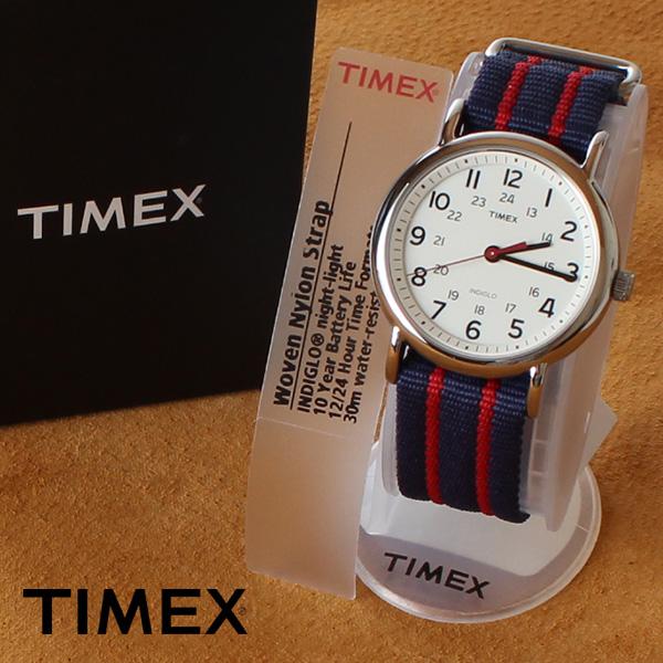 【即納】【送料無料】TIMEX タイメックス ミリタリー 腕時計 ウォッチ ウィークエンダーセントラルパーク T2N747 ネイビー×レッド
