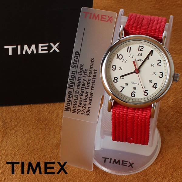 【即納】【送料無料】TIMEX タイメックス ミリタリー 腕時計 ウォッチ ウィークエンダーセントラルパーク T2N751 レッド
